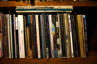 07 - Fennesz CDs including old Mego oversize packaging sitting on top