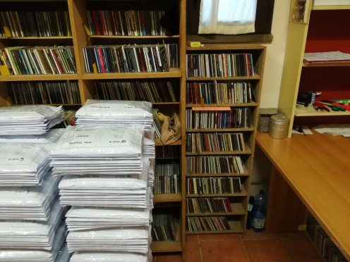 Stefano Isidoro Bianchi room of records (before shipping all the Blow up magazine copies - January 2018 issue).
